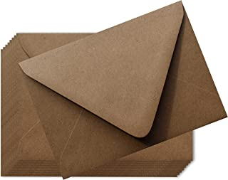Grocery Bag Brown 100 Boxed A7 Euro Flap 80lb Envelopes 5-1/4 x 7-1/4 for 5 x 7 Greeting Cards Invitations Announcements W...