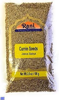Rani Natural Cumin Seeds Whole (Jeera) Spice 3.5oz (100g) ~ Gluten Free Ingredients | NON-GMO | Vegan | Indian Origin