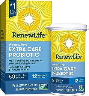 Renew Life Ultimate Flora Probiotic Extra Care 50 billion, 14 Vegetable Capsules/136 g