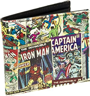 Marvel Comics Leather Character Bifold Wallet w/Gift Box