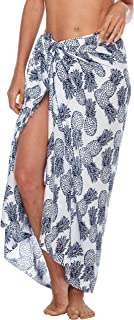 SHU-SHI Womens Beach Cover Up Sarong Swimsuit Cover-Up Pareo Coverups Print