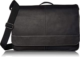 black leather computer bag