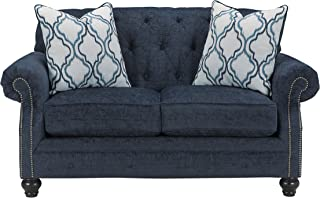 Benchcraft - LaVernia Contemporary Upholstered Loveseat - Navy