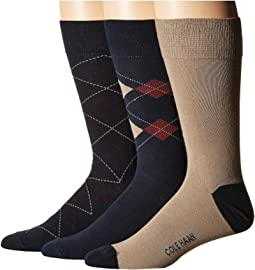 3-Pack Argyle/Stripe Crew