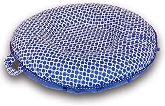 Pello Multi-use Luxe Baby-Toddler Floor Pillow/Play Mat/Lounger, Nathan/Blue