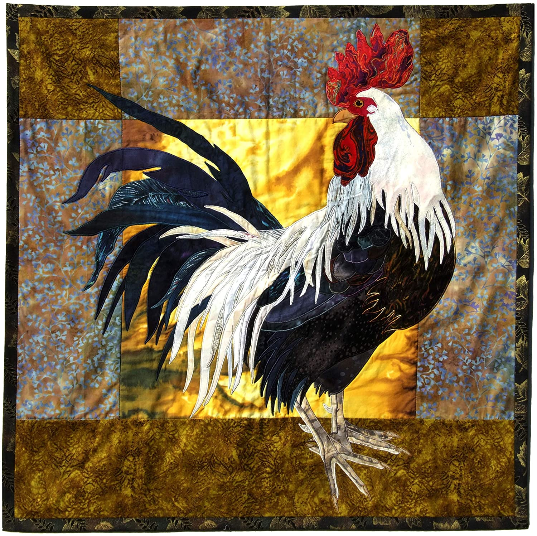 Big Rooster Full Size Applique Quilting Quilt Pattern Instru and Nashville-Davidson Mall Regular store