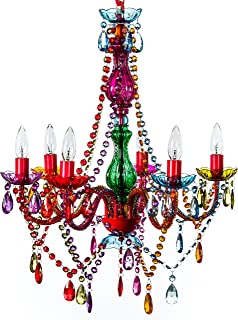 chandelier colorful