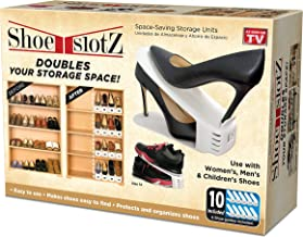 Shoe Slotz Space-Saving Storage Units in Ivory | As Seen on TV | No Assembly Required | Limited Edition Price Club Value P...