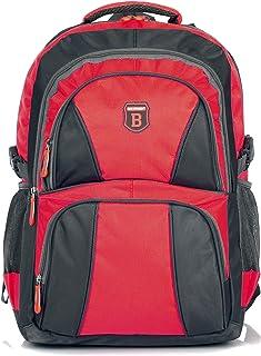 Bolsa Mochila ergonómica para Viajes, Deportes (B1) Rojo-Negro Gran