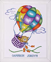 Tobin T21715 18 Count Balloon Cat Sampler Counted Cross Stitch Kit, 11-Inch by 14-Inch