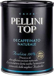 Pellini Caffè - Pellini Top Arabica 100% per Moka Decaffeinato Naturale, 1 Barattolo da 250 gr