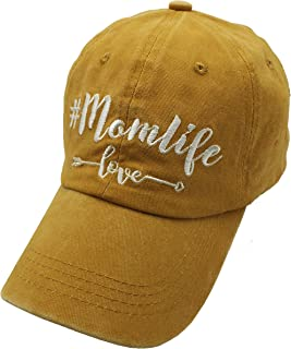 Waldeal Embroidered Adjustable Mom Life Vintage Washed Distressed Baseball Dad Hats Cap Gift for Mama/Grandma