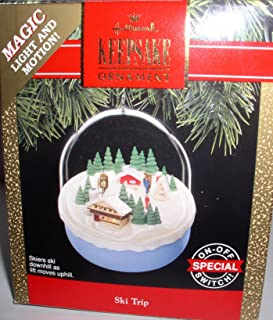 HALLMARK KEEPSAKE SKI TRIP MAGIC LIGHT AND MOTION