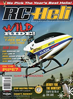 RC Heli Best Selling RC Helicopter Magazine WILD RIDE: ALIGN'S T-REX SE V2 TESTED Gaui Hurricane 550 E-SKY LAMA V4 Hirobo Sceadu Upgrades LOGICTECH 21 OOT GYRO Align G600 Governor WE PICK THE BEST