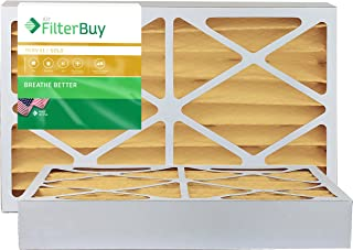 FilterBuy 12x20x4 MERV 11 Pleated AC Furnace Air Filter, (Pack of 2 Filters), 12x20x4 – Gold