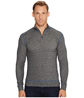 Heathered French Terry 1/4 Zip Sweater