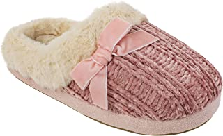 CL Women's Slippers, Winter Warm Knit Slip on Clogs with Memory Foam, Size Small to XL
