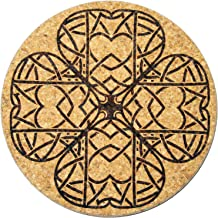 XL Coasters Celtic Clover (9 Inch) – Oversized cork absorbent drink coaster