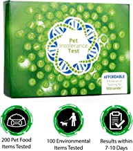 5Strands   Affordable Pet Test   200 Food Ingredients & 100 Environmental Items Tested Cat & Dog   Allergy Sensitivity & Intolerance at Home Collection Test Kit   Hair Analysis   (Pet 300)