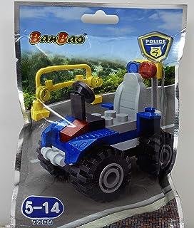 بانباو لعبة تركيب سيارة الشرطة للاطفال ، 34 قطعة ، 7206