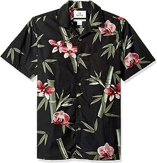 ed18857b60f55b Amazon Brand - 28 Palms Men s Standard-Fit 100% Cotton Tropical Hawaiian  Shirt