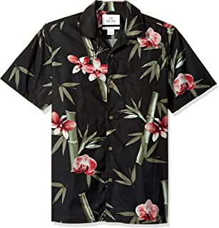 Amazon Brand - 28 Palms Men's Standard-Fit 100% Cotton Tropical Hawaiian Shirt