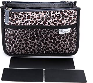 Periea Handbag Organizer - Chelsy - Premium Firm Range - 3 Colours Available - Small, Medium Large (Medium, Gold Leopard)