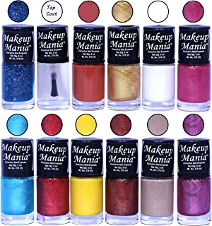 Makeup Mania HD Color Attractive Nail Polish Set of 12 Pcs in Unique Combo of Multicolor Nail Paints (MM-110), 400 g