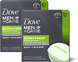 Dove Men+Care Body and Face Bar to Clean and Hydrate Skin Extra Fresh Body and Facial..