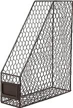 Rustic Chicken Wire Magazine, Office Document, File Holder Shelf Organizer Basket w/Chalkboard Label