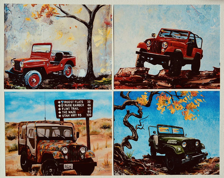 8 x 10 Willys Ranking TOP8 Cj scrambler Super sale PHOTO print PRINTS signed artist