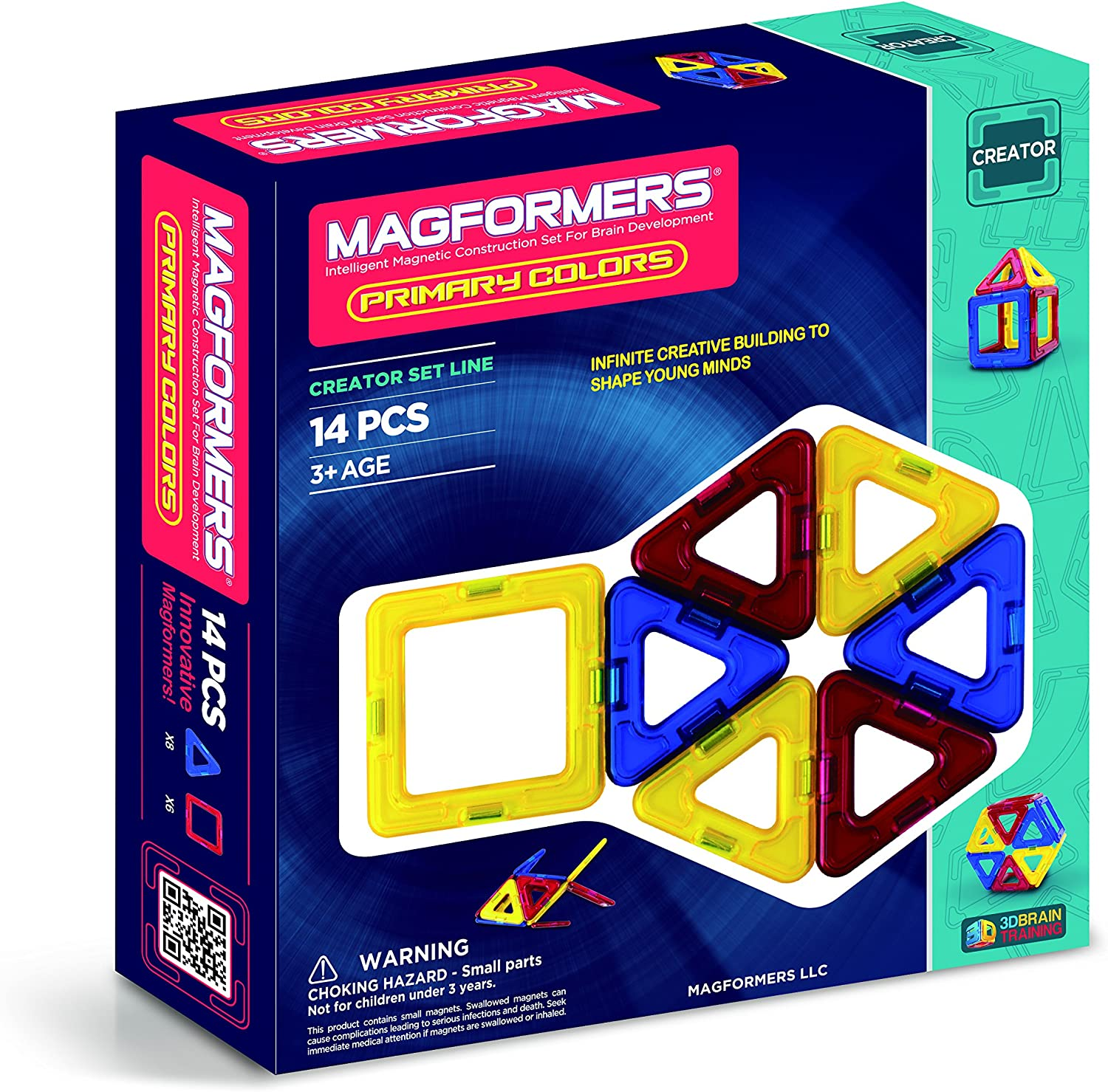 Sale price Magformers Creator Primary Colors Ranking TOP8 Build Set Magnetic 14-Pieces