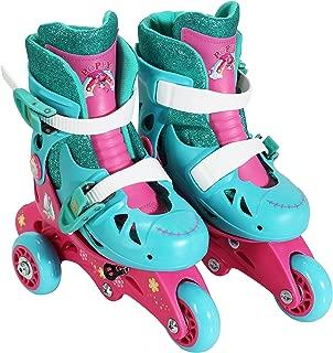 PlayWheels Trolls Convertible 2-in-1 Skates, Junior Size 6-9