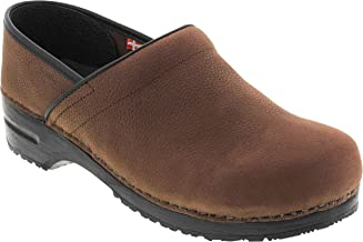 Sanita Narrow Professional Men's Oiled Leather Clogs (Factory 2nd)