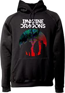 d8740d645f6f9 LaMAGLIERIA Sweat Unisex Imagine Dragons ID0003 - Sweat à Capuche Indie  Rock Band