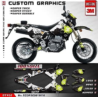 Kungfu Graphics Custom Decal Kit for Suzuki DRZ400 SM Supermoto 1999 2000 2001 2002 2003 2004 2005 2006 2007 2008 2009 2010 2011 2012 2013 2014 2015 2016 2017 2018 2019, Black White, SZDRSE9919010