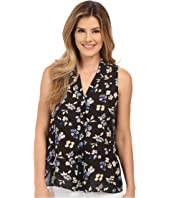 Vince Camuto - Sleeveless Wistful Petal V Blouse w/ Front Pleat