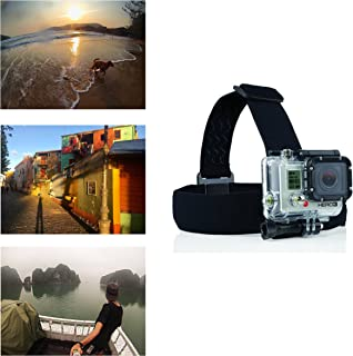 Navitech Helmet/Headband/Head Strap Mount Compatible with The Amuoc 4K WiFi Ultra HD Action Camera