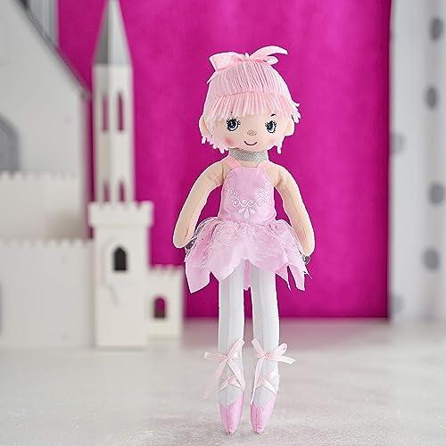 "Butterfly Craze 17"" Ballerina Doll for Little Girls' Ballet Dance Recital and Birthday Gifts (Pink)"