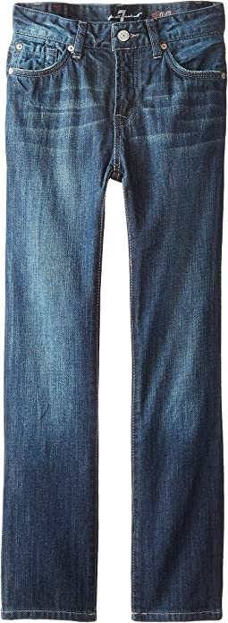 7 For All Mankind Kids - The Slimmy Jeans Dark Indigo in Los Angeles Dark (Little Kids/Big Kids)