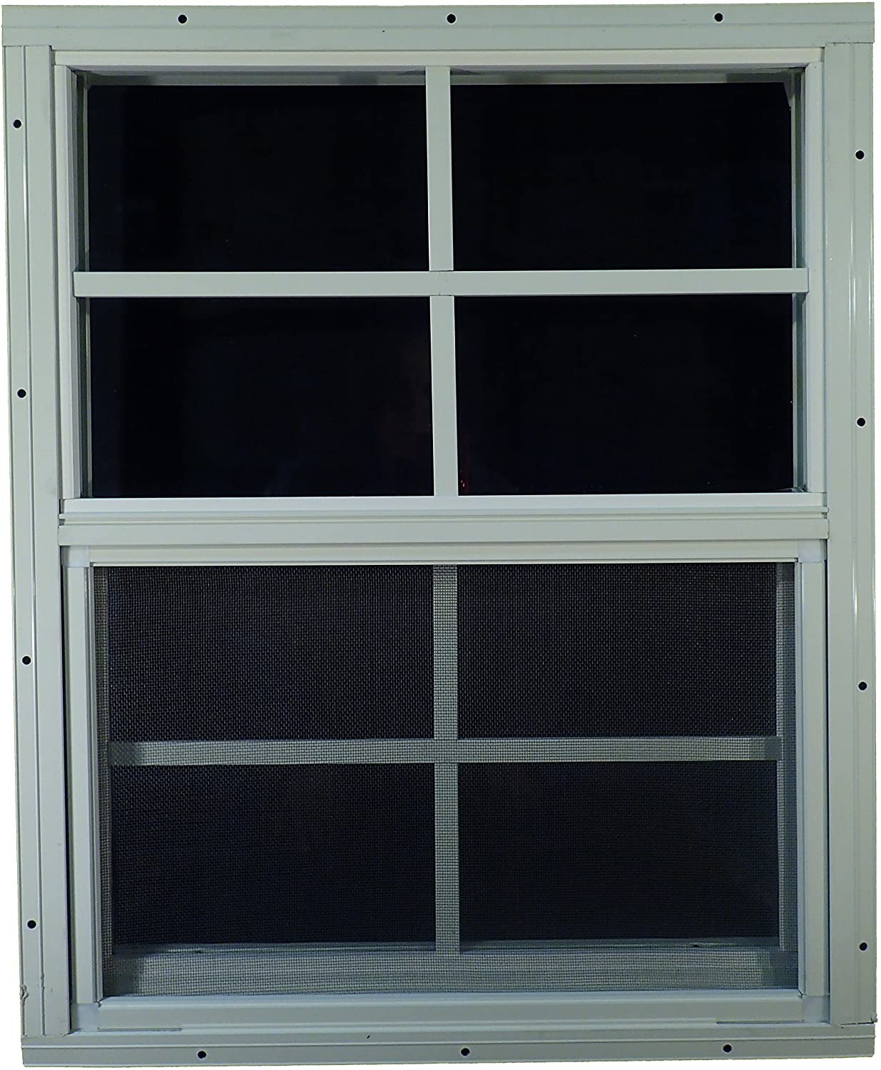 Shed Windows and More USA Made 18 x 27 Tempered Glass White Flush Shed Windows Chicken Coop Playhouse Windows