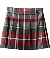 Dolce & Gabbana Kids - Back to School Quadricheck Tartan Skirt (Toddler/Little Kids)