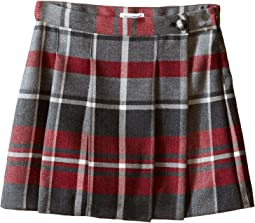 Back to School Quadricheck Tartan Skirt (Toddler/Little Kids)