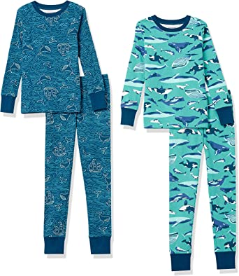 Amazon Essentials Boys' Snug-fit Cotton Pajamas Sleepwear Sets