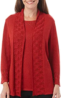 Alfred Dunner Women's 2fer Sweater with Detail