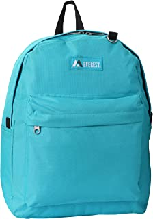 Everest Classic Backpack, Turquoise, One Size