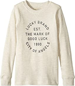 Lucky Brand Kids - Long Sleeve Graphic Thermal Tee (Little Kids/Big Kids)