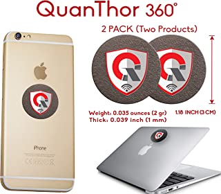 2Pack: 360 Round EMF Protection Cell Phone Tesla Technology: EMF Absorption from WiFi, Laptop - All Bad EMF Devices| Negative Ion Generator| Radiation Blocker Shield, EMF Blocker Device (1.18 INCH)