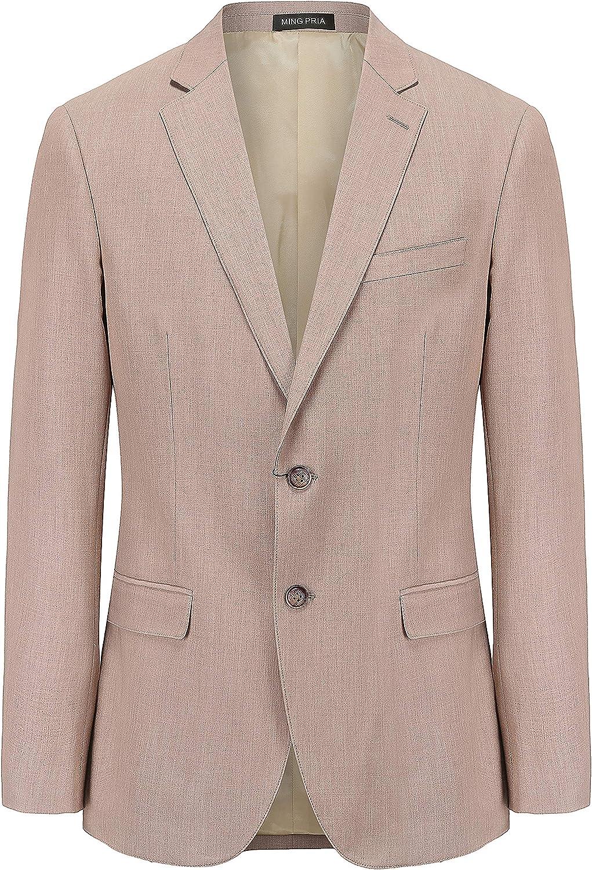 MING PRIA Men's Business Casual Party Wedding Slim Suit Professional Jacket Suit Khaki Jacket