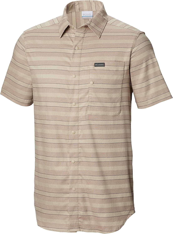 Regular store Columbia Men's Shoals Point Large-scale sale Sleeve Shirt Short
